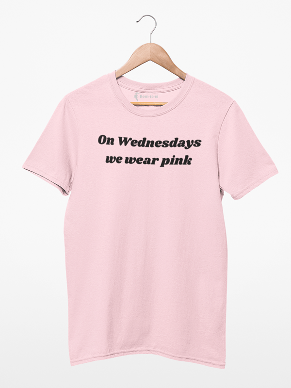 Camiseta On Wednesdays We Wear Pink Meninas Malvadas