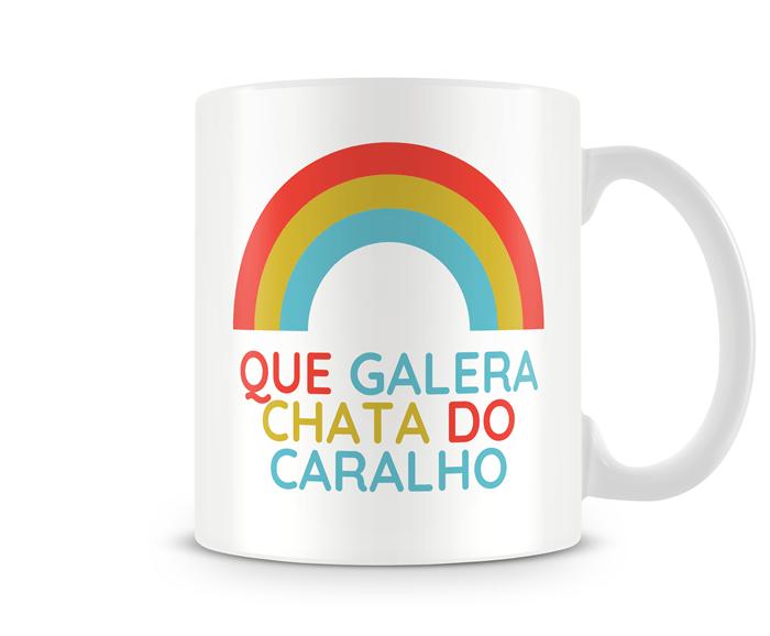 Caneca Galera chata