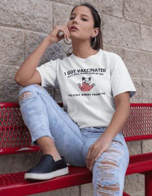 Camiseta I Got Vaccinated/Tomei Vacina