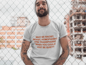 Camiseta Just Be Quiet