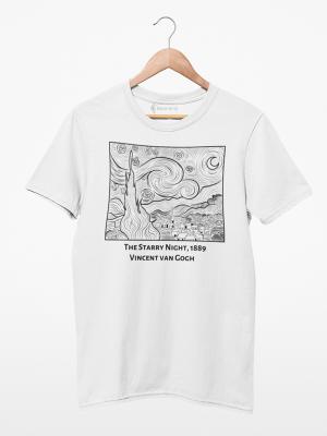 Camiseta Van Gogh Noite Estrelada
