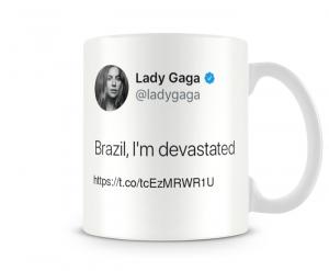 Caneca Lady Gaga - Devastated